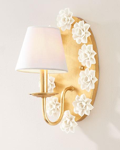 Porcelain Flower Sconce