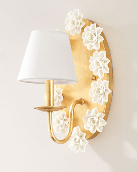 Porcelain Flower Sconce