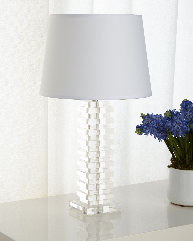 Stacked Acrylic Table Lamp Neiman Marcus