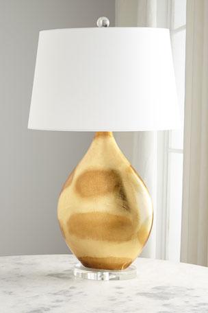 Gold Foil Table Lamp
