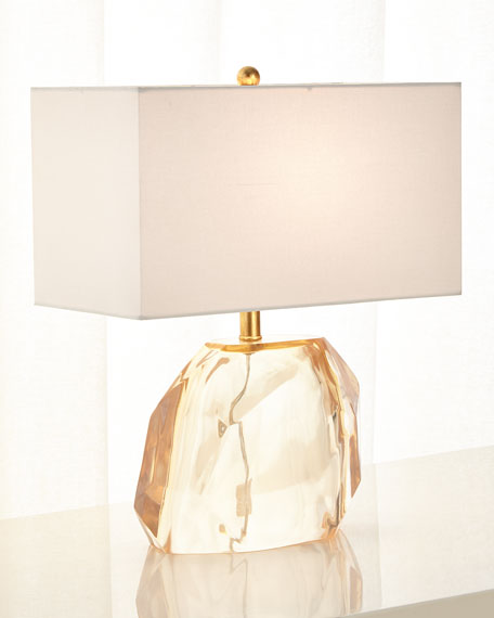 Faceted Resin Lamp