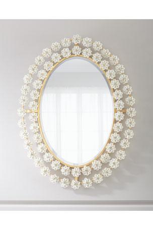 Porcelain Flower Mirror