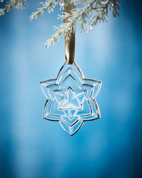 2018 Annual Crystal Christmas Ornament, Clear
