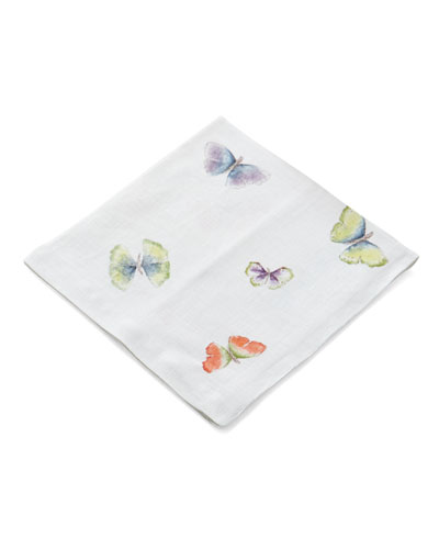 Butterfly Gingko Printed Dinner Napkin