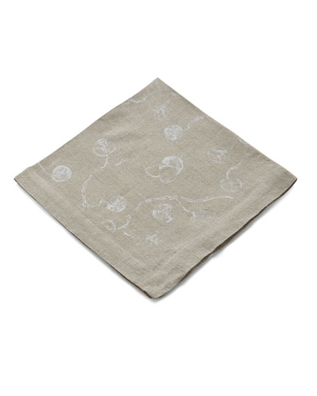 Botanical Leaf Printed Dinner Napkin