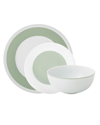 Twist 3-Piece Place Setting, Sage