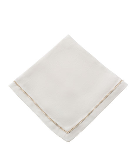 Twist-Trim Dinner Napkin, Eggshell