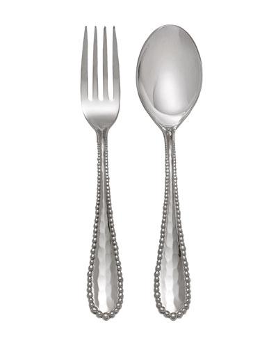 Molten Serving Set, Silver