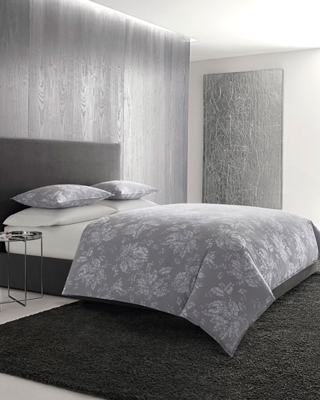 Transparent Leaves Queen Comforter Set