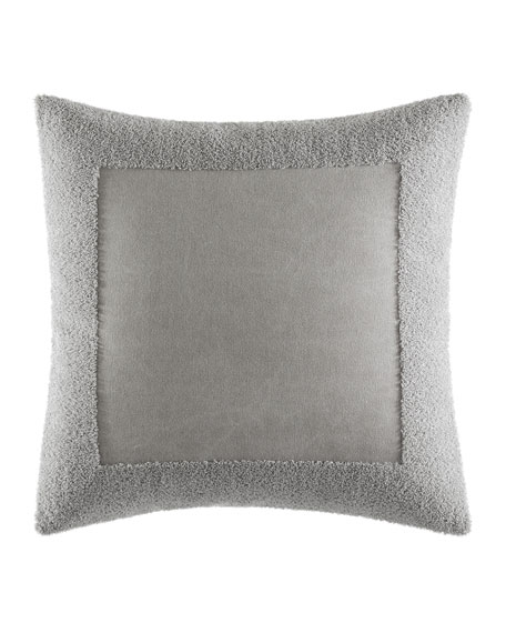 "Terry Border Pillow, 18""Sq."