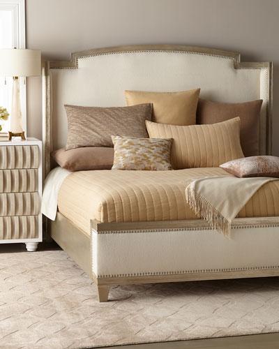 Ronan Upholstered King Shelter Bed