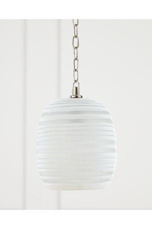 Tall Ribbon Glass Pendant