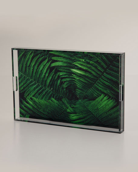 Tropical Plant Acrylic Serving Tray