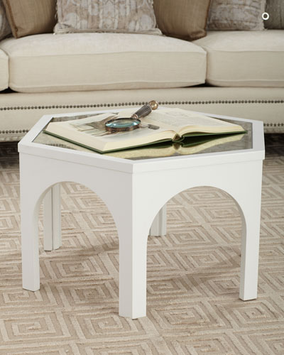 Kiera Mirror-Top Coffee Table