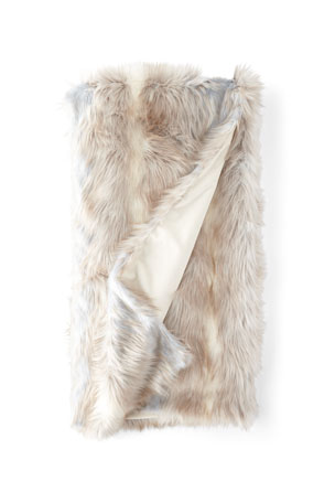 Fabulous Furs Faux Siberian Fox Throw Blanket
