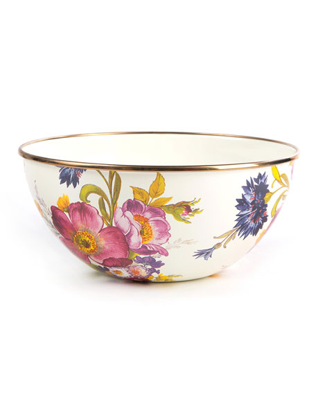 MacKenzie-Childs Flower Market Small Everyday Bowl and Matching
