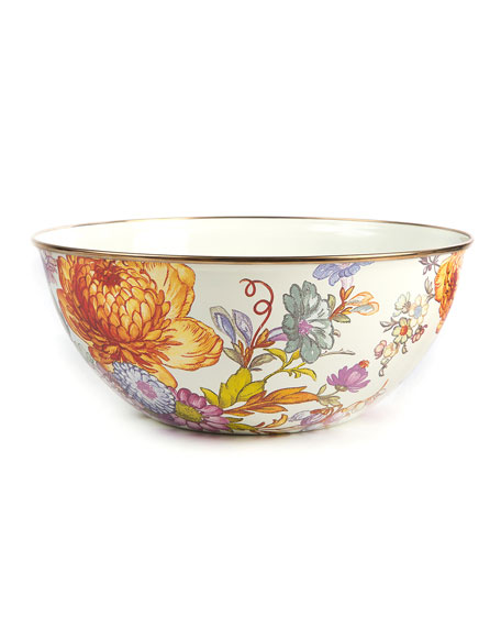 MacKenzie-Childs Flower Market Large Everyday Bowl