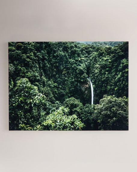 """Waterfall"" Photography Print on Maple Box Framed Art"