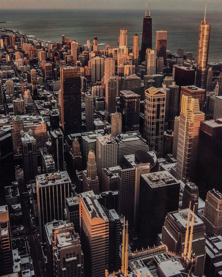 """Chicago"" Photography Print Handmade HD Metal & Acrylic Art"