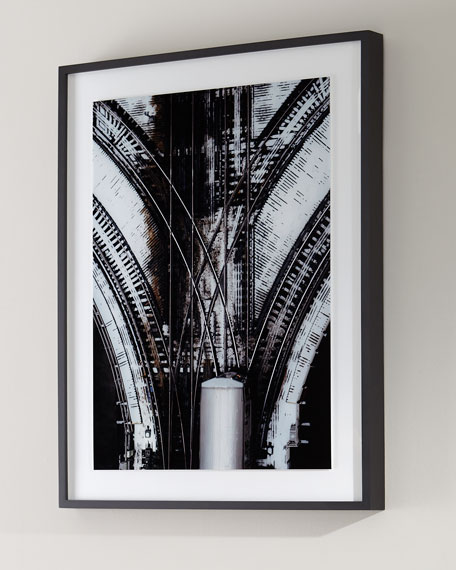 """Train Tracks"" Photography Print on Photo Paper Framed Art"