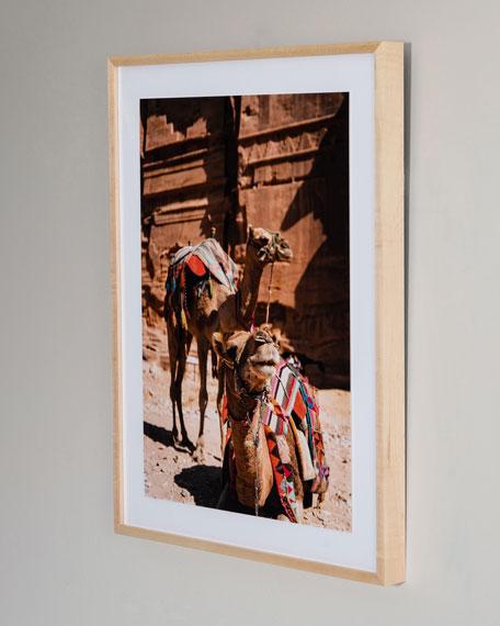 """Camels"" Photography Print Framed Handmade  Art"
