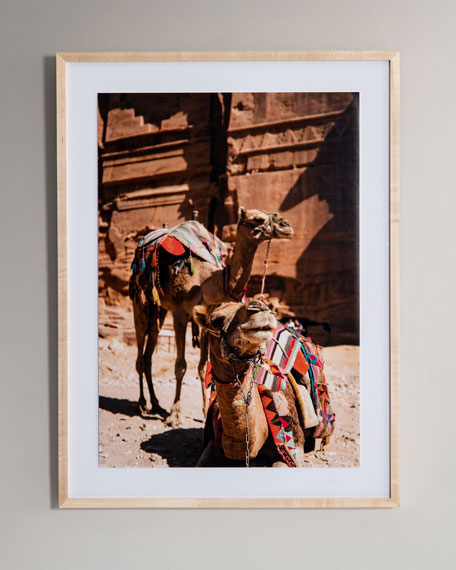 """Camels"" Photography Print Framed Handmade  Art"