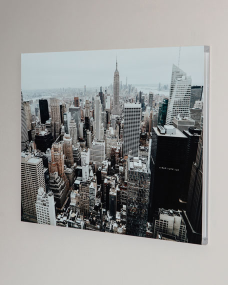 """The Big Apple"" Photography Print Handmade HD Metal & Acrylic Art"