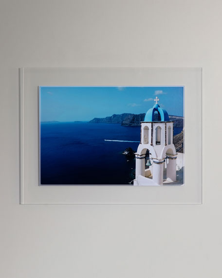 """Greece II"" Photography Print Framed Art"
