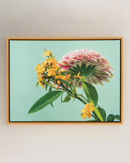 """Yellow & Pink"" Photography Print on Canvas Framed Wall Art"