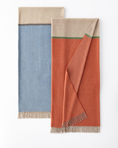 Bicolor Merino Wool-Cashmere Throw
