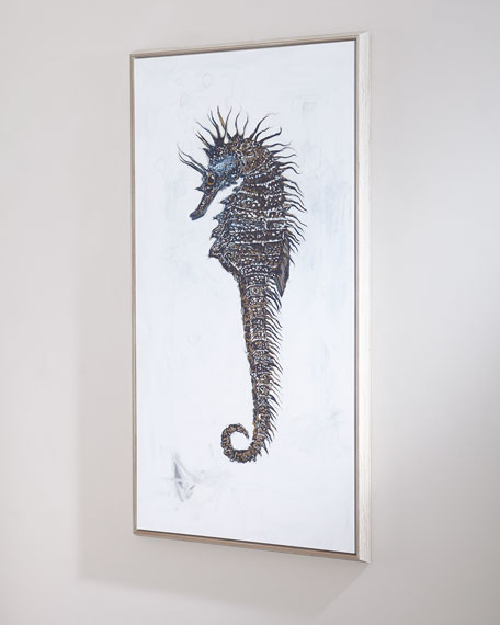 """Seahorse Study"" Right-Facing Canvas Art"