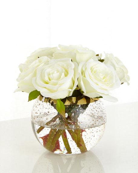 John-Richard Collection Vienna Roses Faux Floral Arrangement