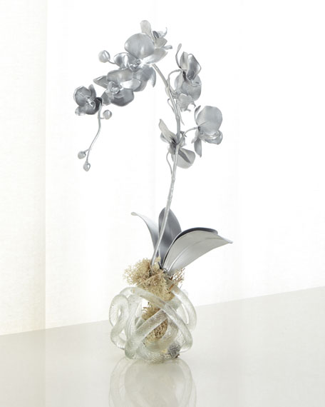 John-Richard Collection Silver Orchid Faux-Floral Arrangement