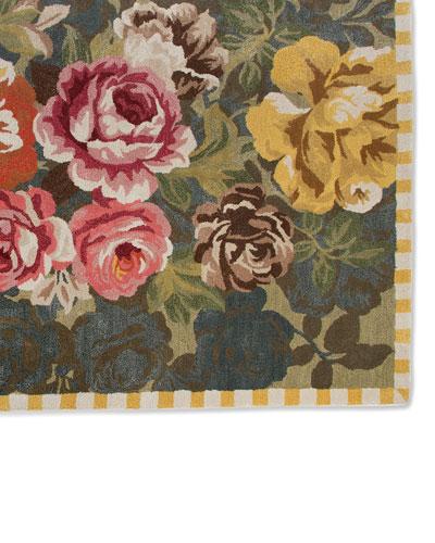 Mackenzie Childs Bloomsbury Garden Rug 2 3 X 75