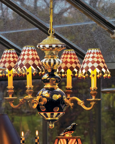 Courtly Check Black Tie Chandelier