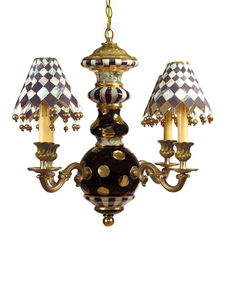 MacKenzie-Childs Courtly Check Black Tie Chandelier
