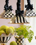 Courtly Stripes Square Hanging Lamp