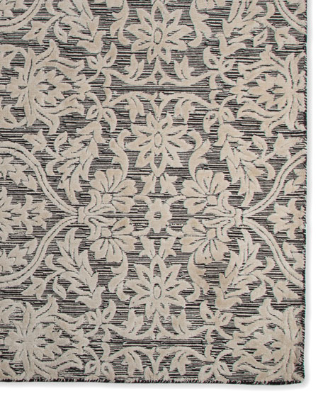 MacKenzie-Childs Ivory Scroll Rug, 2' x 6' x