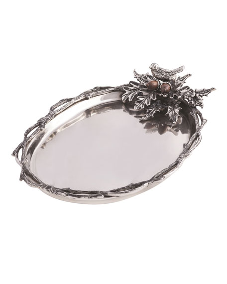 Birds & Branches Oval Serving Tray