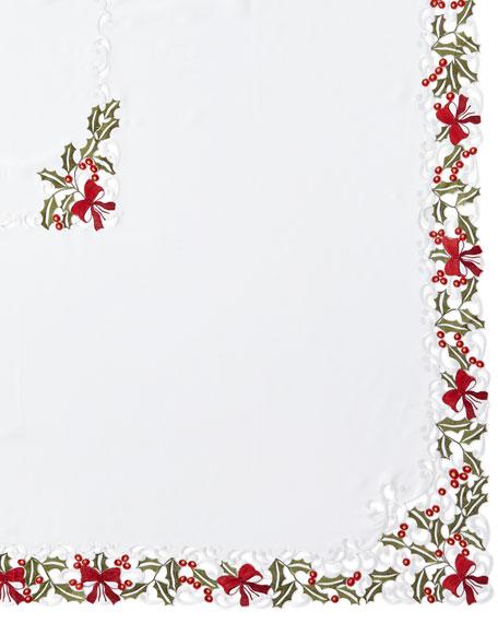 "Holly 72"" x 126"" Tablecloth & 12 Napkins"