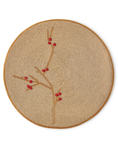 Berry Round Beaded Placemat