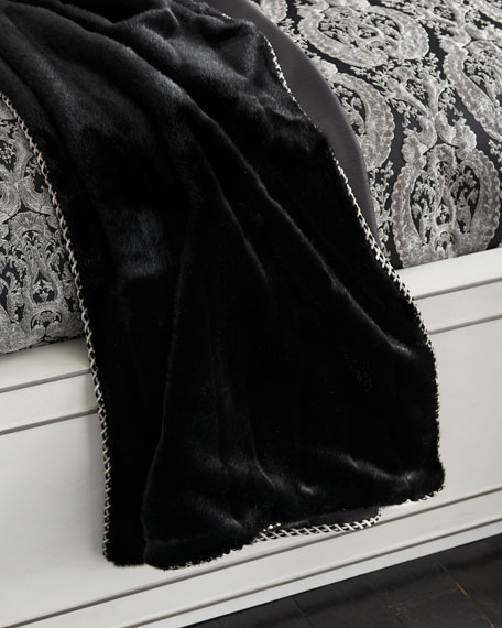 Bianca Faux-Fur Throw with Cord