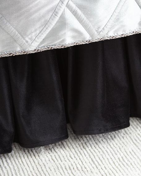 Bianca Gathered Velvet Dust Skirt