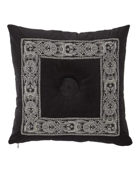 Bianca Velvet Boutique Button-Center Pillow