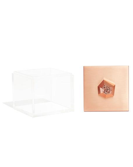 Kendra Scott Square Rose Gold Acrylic Box