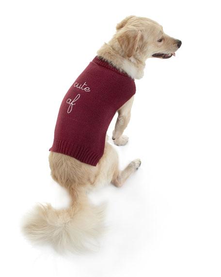 """Max-Bone """"Cute AF"""" Dog Sweater"""