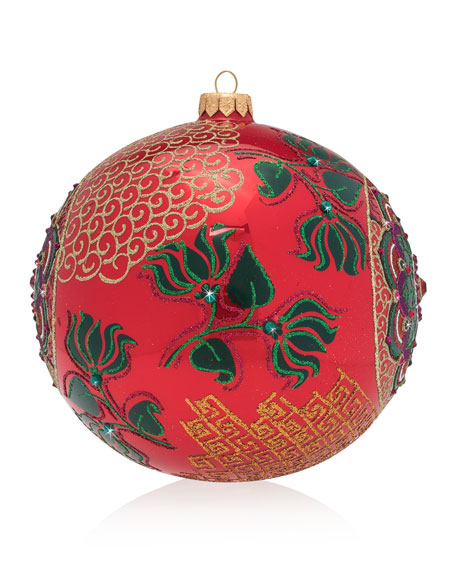 2018 Opulent Glass Christmas Ornament