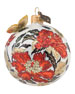 "Chinoiserie Artisan Glass Ball Christmas Ornament, 3""Dia."