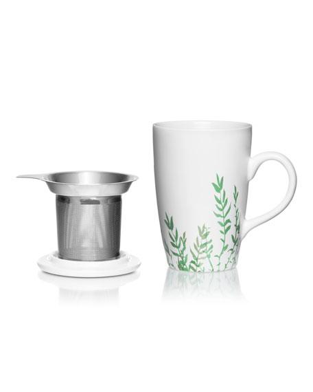 La Tisaniere Porcelain Floral Tea Infuser Mug
