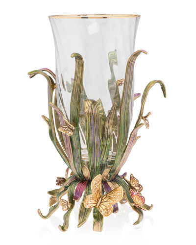 Butterfly and Leaf Vase